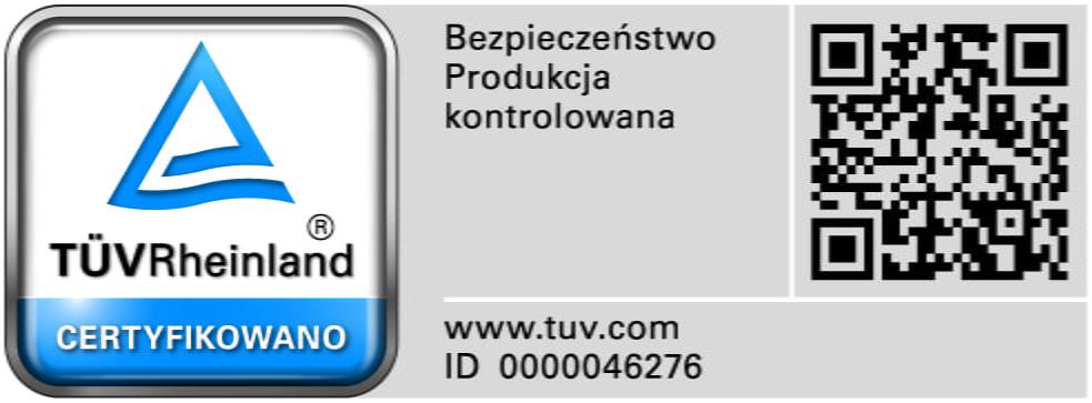 Certyfikat TÜV na zgodność z EN 12469 : 2002